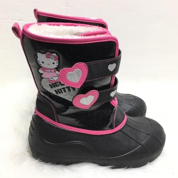 Sanrio Girls Snow Boots Black Size 4